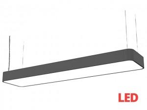 SOFT LED graphite 90x20 zwis 9542