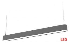 SOFT LED graphite 90x6 zwis 9546