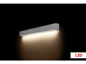 STRAIGHT WALL LED silver M 9614