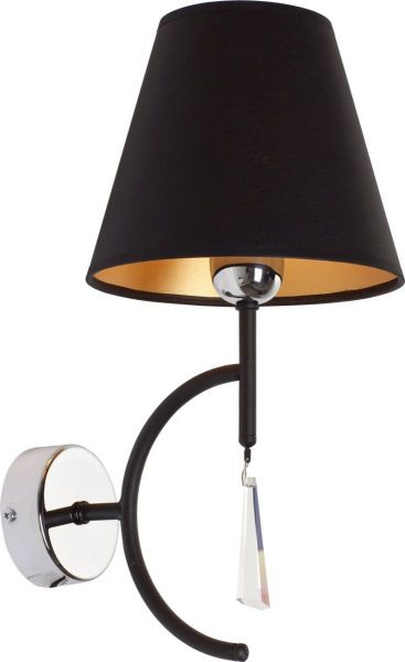 Lampy oświetlenie Nowodvorski - ELLICE black kinkiet 4501